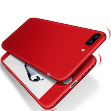 Buy 360 Degree Full Cover Red Cases iPhone 6 6s 7 Plus Case Tempered Glass Cover iphone 7 7Plus 6s Phone Case Capa for $2.99 in AliExpress store