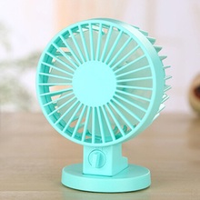 USB Fan Creative Air condition ABS Mini Desk Fans For Home Office Electric Desktop Computer Fan With Double Side Fan Blades(China)