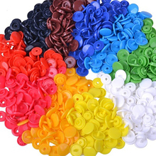 150 Pcs Mixed Color Plastic Buttons Fastener Snaps Sewing Scrapbooking Button Decor