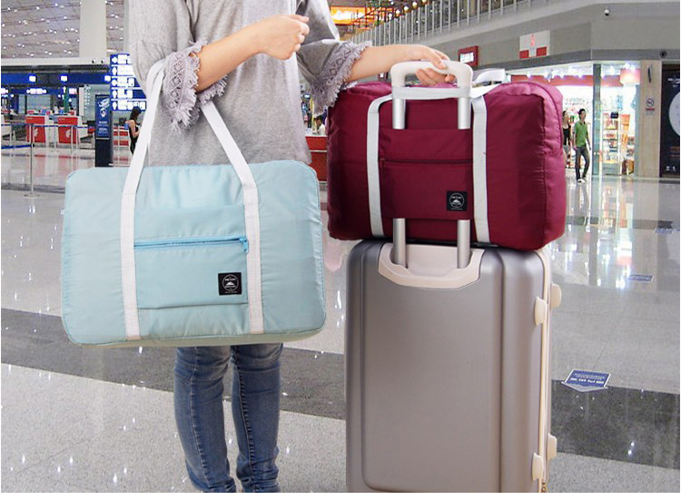 2018 new nylon foldable travel bag unisex Large Capacity Bag Luggage Women WaterProof Handbags men travel bags Free Shipping 2