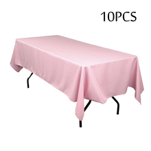 High Quality Fabric Rectangular and Round Table Cloth Machine Washable Tablecloth Christmas Banquet Party Table Cover Decoration