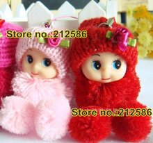 Free shipping wholesale 50pcs cute baby dolls for girls as promotion gifts, christmas doll gift, cell Phone Charms,bag charms