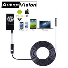 F100 5.5mm 2M 5M 10M 6.5ft 16.4Ft 32.8Ft Hard Cables Camera Snake Endoscope Wireless WIFI Magic Box For iOS Android Phone Black(China)