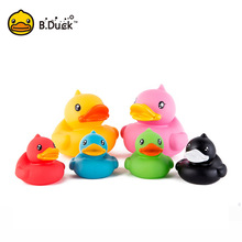 B.Duck Baby Bath Toys PVC Duck Shower Water Floating Mini Bathroom Toys Party Supplies Birthday Gifts 1pc(China)