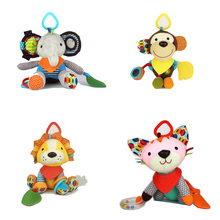 15cm*23cm best quality Baby Kids Cartoon Animal Plush Baby Rattles & Mobiles, Car/bed/crib Hanging Bell Bnqriuedos