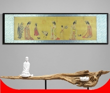 Scroll Painting by Numbers / traditional Chinese women Famous Figure Gifts / Home Office wall artwork Handpainted Room Decor(China)