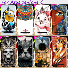 Soft TPU&Hard Plastic Cute Minions Phone Cases For  Asus ZenfoneC ZC451CG Z007 Zenfone C 4.5 inch Phone Cover Phone Accessories