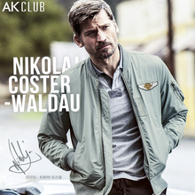 AK CLUB Men Jacket Nikolaj Coster-Waldau Advertised MA-1 Flight Jacket Light Vintage Series Boutique Collection Jacket 1704001
