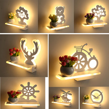 Led Wall Lamp LED Sconce Light Acrylic Modern Home Decoration wall Light for Bedside Bedroom/Dinning Room/Restroom With Bulbs(China)