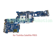 New K000135160 For Toshiba Satellite P850 P855 Laptop Motherboard QFKAA LA-8392P + heatsink =  LA-8391P DDR3 HD4000 support I7