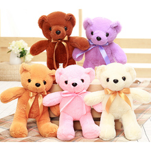1pcs 35cm Kawaii Five Colors Soft Teddy Bear Stuff Plush Animal Doll Gifts For Children