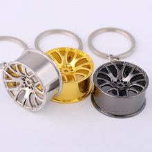 Creative Metal Car Wheel Shapes Keychain Pendant Colorful Transformer Wheel Tide Key Chain Personality key ring(China)