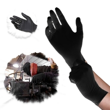 50Pairs/Set Black Latex Disposable Gloves Cleaning Gloves For Hair Styling(China)