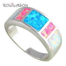 Amazing Color Fire Opal Silver Stamped Ring USA Size #6#7#8#9 Fashion Jewelry Opal Jewelry Prom party Best gift *OR609