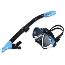 2016 Diving Mask Glasses 3 Colors Dry Snorkel Set Water Sports Silicone Swimming Mask Glasses Diving Training Dry Snorkel Set