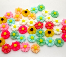 Buy 50Pcs Mixed Flower Resin Decoration Crafts Beads Flatback Cabochon Scrapbook DIY Embellishments Accessories for $1.38 in AliExpress store