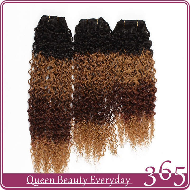 Ombre hair extensions 1B/30/33/27 brazilian curly virgin human hair weave 7A grade 365 queen hair products free shipping<br><br>Aliexpress