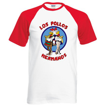 New Arrival Breaking Bad LOS POLLOS Hermanos T Shirt Chicken Brothers 2016 summer 100% cotton cartoon casual raglan tee for fans