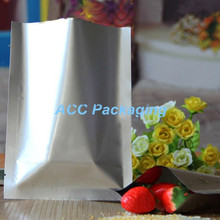 Wholesale 9x13cm Silver Top Open Plating Pure Aluminum Foil Food Sugar Storage Vacuum Bag Flat Mylar Heat Sealable Package Pouch(China)