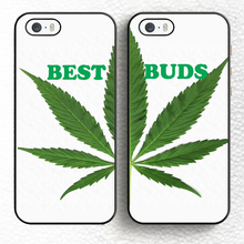 Set of 2 Green Best Buds Friends Soft Rubber Back Case Cover For iPhone 6 6S Plus 7 7 Plus 5 5S 5C SE 4S Mobile phone bag