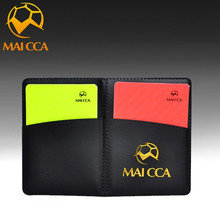 MAICCA football Referee Red Card Yellow Card Soccer Pencil Notebook Set Professional Supplies(China)