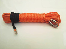 "Free Shipping Orange 5/16""*50ft  Synthetic Rope,Boat WInch Rope,ATV Winch Cable,Off Road Rope,Synthetic Rope Winch"