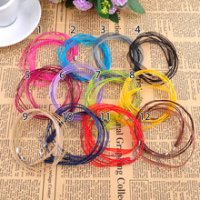 "Free Shipping New Silk Organza Ribbon Necklace Strap wax Cord 18"" Chain 10pcs/lot Lobster Clasp U choose color(China)"