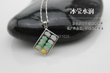 Wonderful Top Quality FeiCui Multicolor Abacus Lucky Pendant Necklace + certificate fashion woman man's Pendants Jewelry()