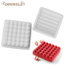 DINIWELL Bakeware Baking Pastry Mould Square Bubble Design Silicone Mold For Mousse Cake Breads Cornbread Cheesecake Pie Brownie