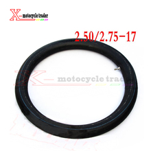 CRF 70/KLX110/ dirt bike parts 17 inner tube for dirt bike/pit bike front 17 inch tyre parts 2.50-17 Inner tube(China)