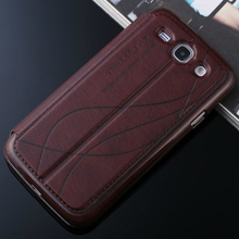 Leather case For Samsung Galaxy win gt duos i8552 8552 gt-i8552 case Luxury Window View 3d Flip Stand PU cover Cell Phone cases