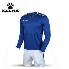 KELME K16Z2004L Men Autumn Long Sleeve Thin Training Light Board Team Football Jersey Suit Blue White 2016 Wholesale 28