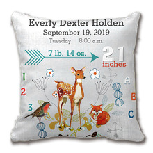 Nursery Baby Birth Stat Fox Arrow Pattern Throw Pillow Decorative Cushion Cover Pillow Case Customize Gift By Lvsure For Car