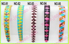 free freight 20pcs 3/4'' Ribbon Woven Headband braid headbands ribbon wraped headbands