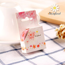 Adesivo 2pcs/lot Trendy For Oriental Cherry Cartoon Decorative Tape Adhesive Stickers Masking Stationery School Supplies Wz(China)
