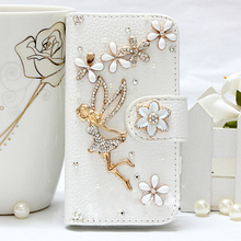 New + Hot Luxury Golden dream girl White leather Mobile phone holster protection Case for HTC One E9 Plus Free shipping