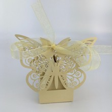 50pcs top sales clients butterfly wedding favor box candy box,wedding favors and gifts,Ideas regalos de boda(China)