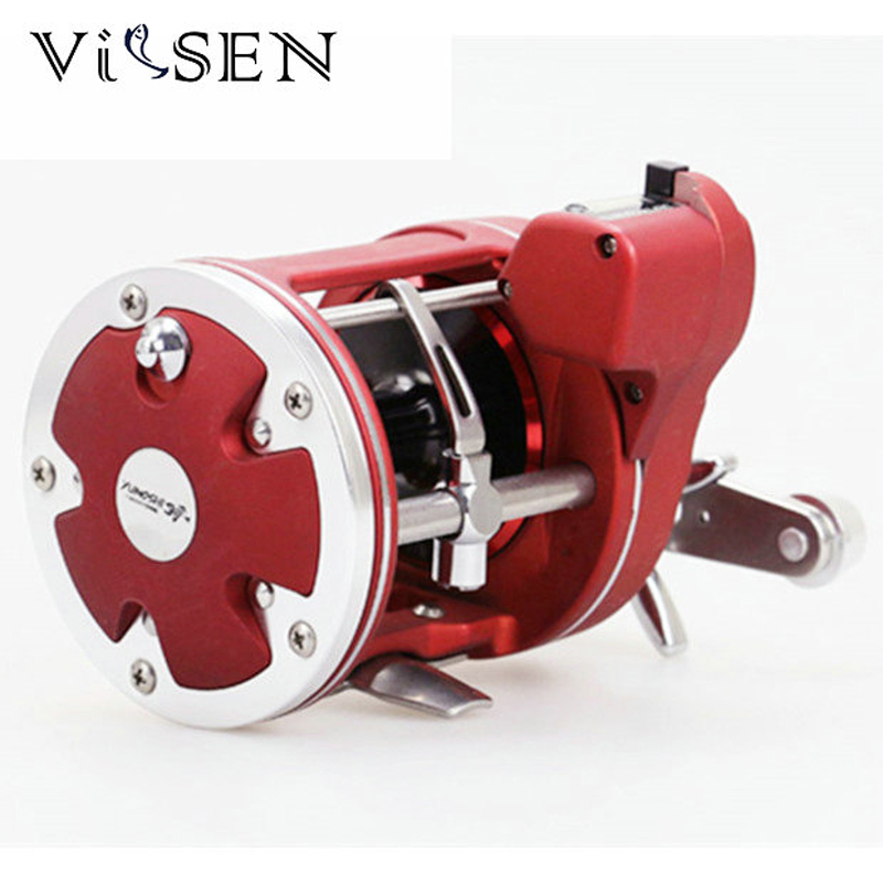 Vissen trolling fishing reels Centrifugal brake system Fishing Line Counter Reel 12BB 5.2:1 Fishing Reel 3.8:1 drum cast wheel<br>