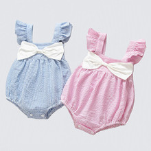 Baby Romper Girl Newborn Baby Girl Clothes Summer Cotton Little Princess Sunsuit Baby Romper Striped Bow Baby Jumpsuit Short