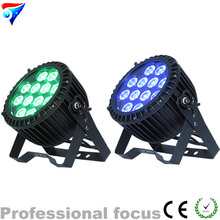 Free shipping 2pcs/lot 12*18W 6IN1 RGBAW UV led par light outdoor led par