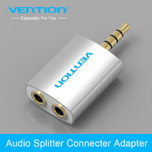 Vention 3.5mm Earphone Audio Splitter Connecter Adapter 1 Male to 2 Female For Headphone Earphone PC Mobile Phone Mp3 Mp4(China)