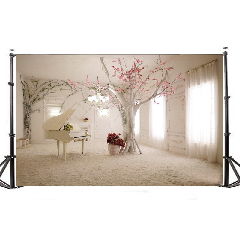 5x3FT indoor scenery vinyl Photography Background For Studio Photo Props piano and tree Photographic Backdrops 150 x 90cm<br><br>Aliexpress