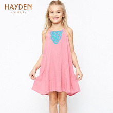 girls party dress pink 2017 summer striped sundress infant children frocks teenage girls clothing 9 11 13Y girl clothes costumes