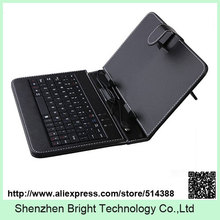 NEW HOT Selling 7 inch Universal Leather Case Cover with Micro USB Keyboard For Tablet PC