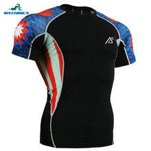 C2S-B37 Singapore Short Sleeves Men's Skin Club Teams T Shirts Baseball Compression Softball Jersey Tight Badminton Tee Tops