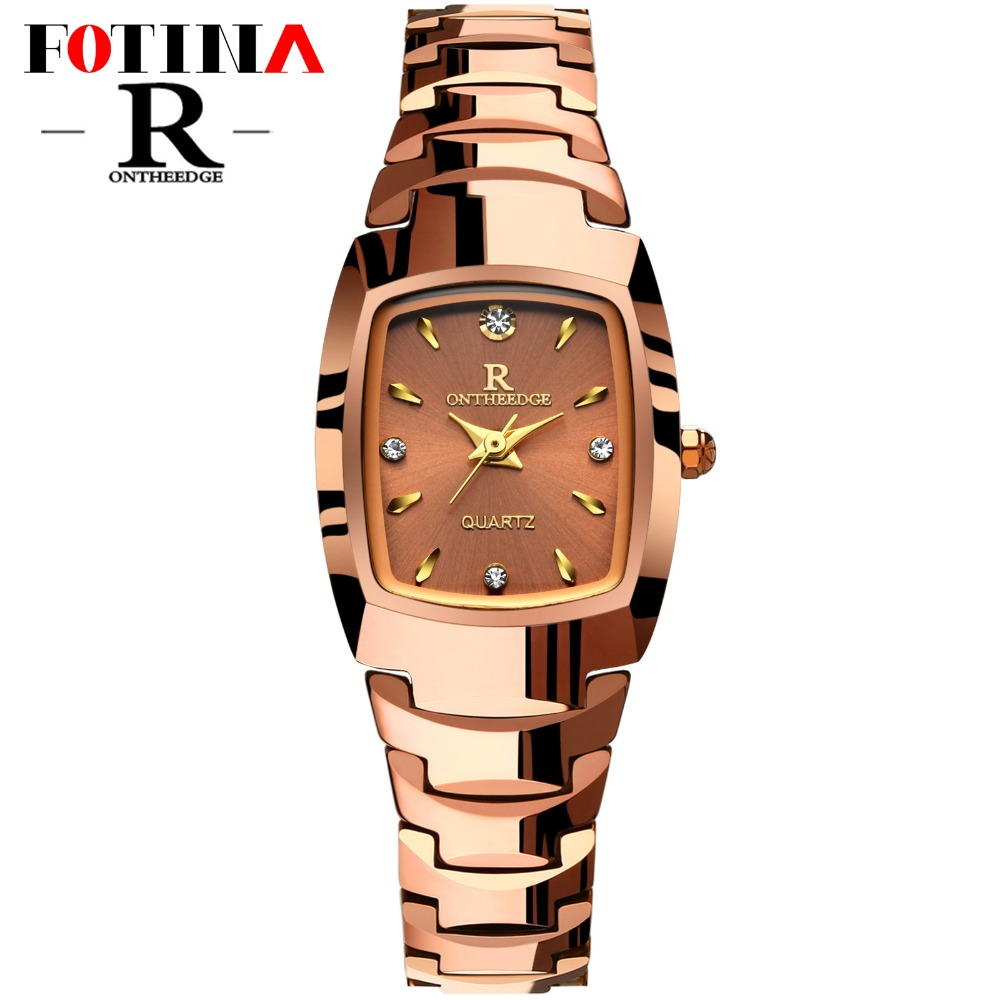 Fotina Top Brand R Watch Women Real Tungsten Steel Wristwatch Diamond Ladies Dress Watch Silver Rose Gold Clock Relogio Feminino<br><br>Aliexpress