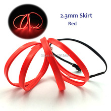 Auto Decor Lighting Flexible 1Meter 2.3mm Led Strip String Red Car Lights 6mm Sewing Edge Neon Light Without Converter for Party