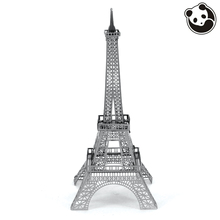 Pandamodel@Construction Famous Buildings Over The World 3D Metal Model Puzzles EIFFEL TOWER Chinese Metal Earth Stainless Steel(China)