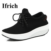 Ifrich New Arrival Walking Sneakers Women Luxury Summer Ladies Sport Shoes Red Black Cheap Breathable Shoes for Women