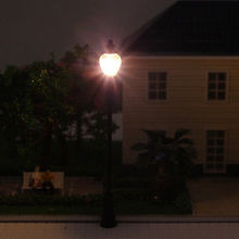 10PCS Model Railroad train Lamp posts Led street light Antique Lamps O scale LQS24 model train 1/43 railway modeling